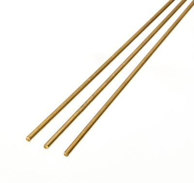 Albion Alloys - 305mm x 0.4mm Brass Rod (10 pieces) # BW04