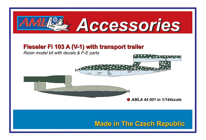 AML 1/144 Fieseler Fi-103A (V-1) with Transport Trailer # A44001