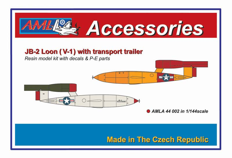 AML 1/144 JB-2 Loon (V-1) with Transport Trailer # A44002