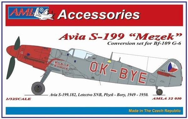 "AML 1/32 Avia S-199 ""Mezek"" Conversion Set & Canopy for Bf-109 G-6 # A3210"