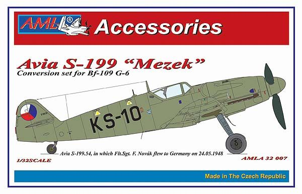"AML 1/32 Avia S-199 ""Mezek"" Conversion Set for Bf-109 G-6 # A3207"