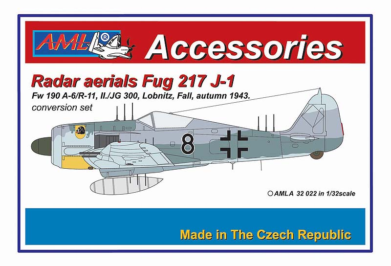 AML 1/32 Fw-190A-6/R11 with Radar Aerials FuG 217J-1 Conversion Set # A3222
