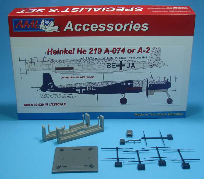AML 1/32 Heinkel He-219 A-074/A-2 Conversion Set with Decals # A3229