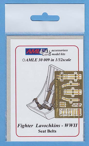 AML 1/32 Lavochkins Fighter - WWII Seat Belts # E3009