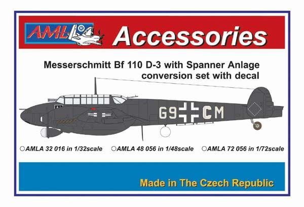 AML 1/32 Messerschmitt Bf-110D-3 Spanner Anlage Conversion Set with Decals # A3216