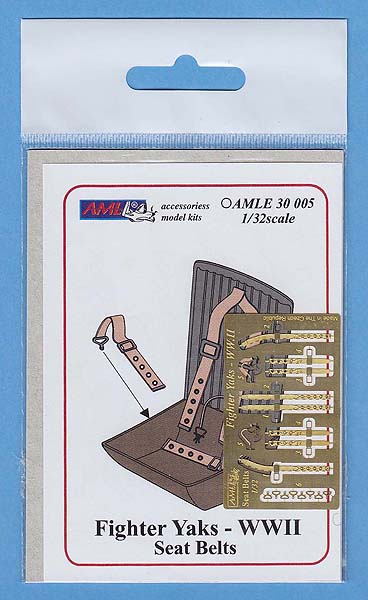 AML 1/32 Yaks Fighter - WWII Seat Belts # E3005