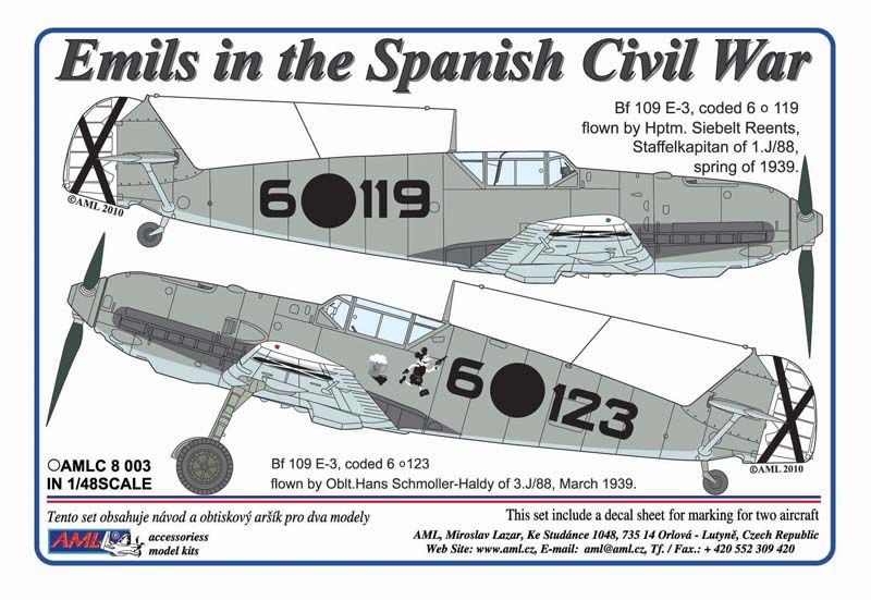 AML 1/48 Emils in the Spanish Civil War # C8003