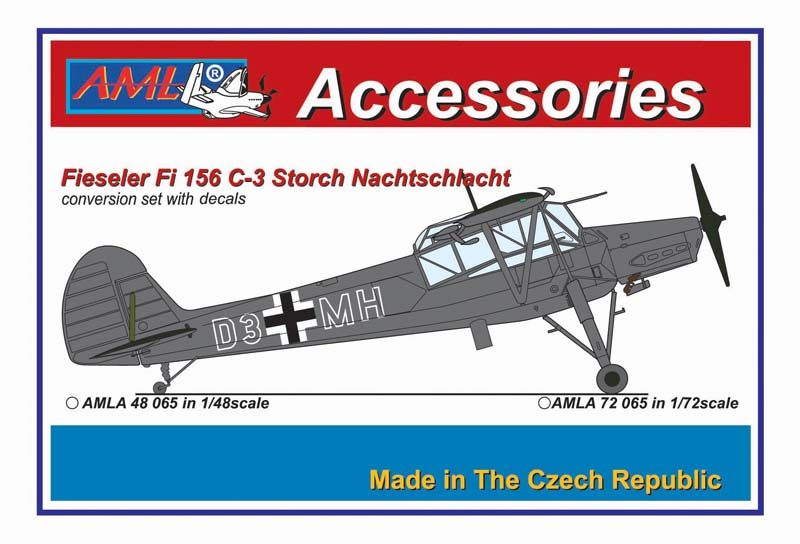 AML 1/48 Fieseler Fi-156C-3 'Storch' Nachtschlacht Conversion Set with Decals # A4865