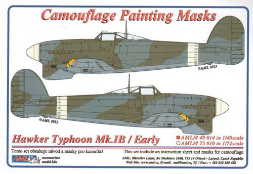 AML 1/48 Hawker Typhoon Mk.Ib/Early version Camouflage Paint Mas
