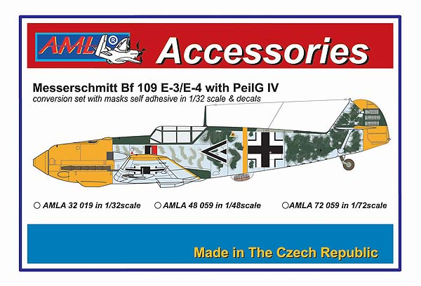 AML 1/48 Messerschmitt Bf-109E-3/4 with PeilG IV-Day Fighters Conversion Set # A4859