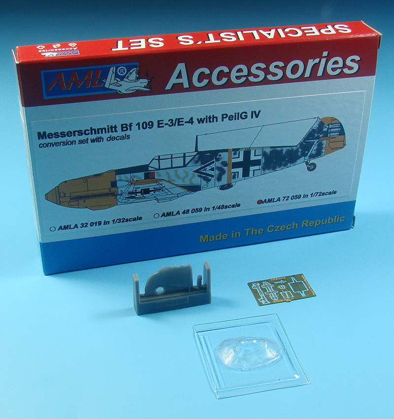 AML 1/72 Messerschmitt Bf-109E-4 with PeilG IV Day Fighters Conversion Set # A7259