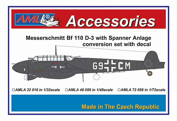 AML 1/72 Messerschmitt Bf-110D-2 with Spanner Anlage Conversion Set with Decal # A7256