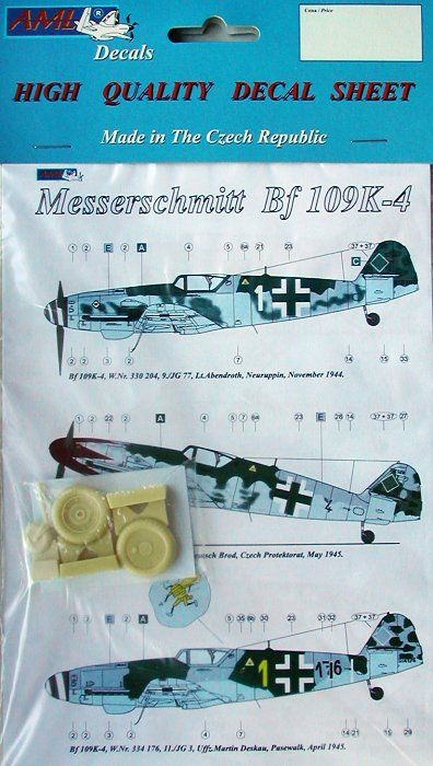 AML Decals 1/32 Messerschmitt Bf-109K-4 with Resin Wheels # D3202