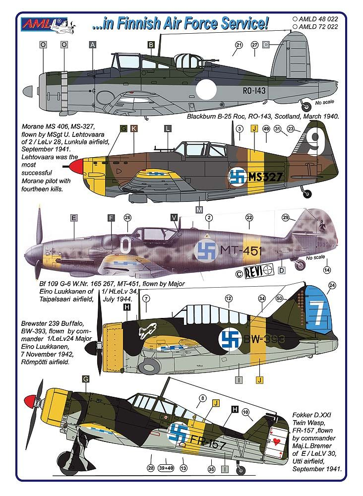 AML Decals 1/48 in Finnish Air Force Service! # D4822