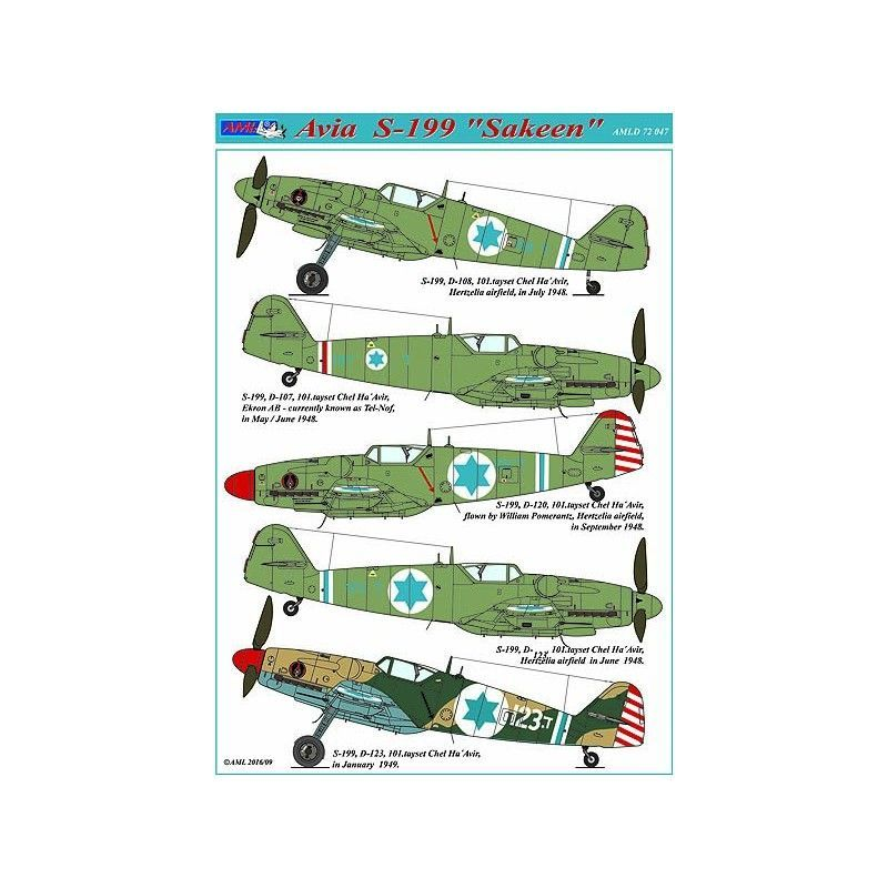"AML Decals 1/72 Avia S-199 ""Sakeen"" with Photo-Etched Part # D7247"