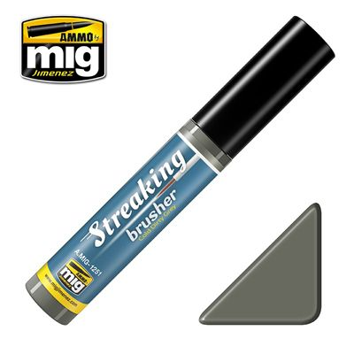 Ammo by Mig 10ml Cold Dirty Grey Streaking Brusher # MIG-1251
