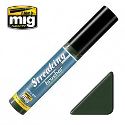 Ammo by Mig 10ml Green-Grey Grime Streaking Brusher # MIG-1256