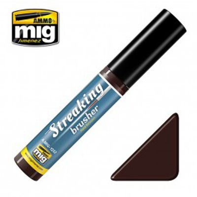 Ammo by Mig 10ml Red Brown Streaking Brusher # MIG-1252