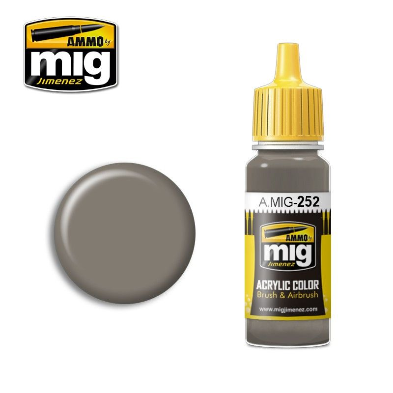 Ammo by Mig 17ml Grey Brown AMT-1 Acrylic Paint # MIG-252