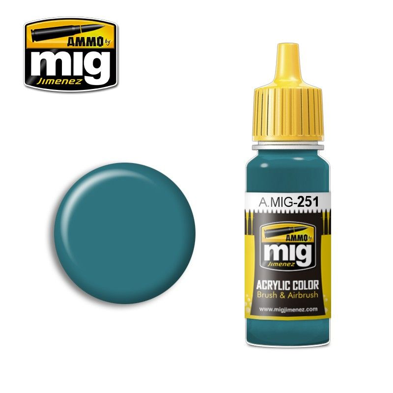 Ammo by Mig 17ml Russian Blue AMT-7 Acrylic Paint # MIG-251