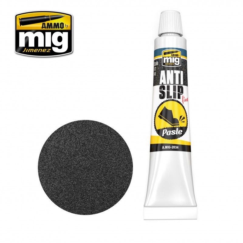 Ammo by Mig 20ml Anti-Slip Paste - Black for 1/72 & 1/48 # MIG-2034