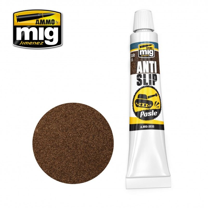 Ammo by Mig 20ml Anti-Slip Paste - Brown for 1/35 # MIG-2035