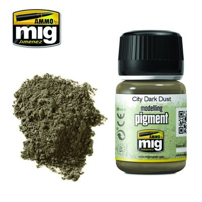 Ammo by Mig 35ml City Dark Dust Pigment # MIG-3028