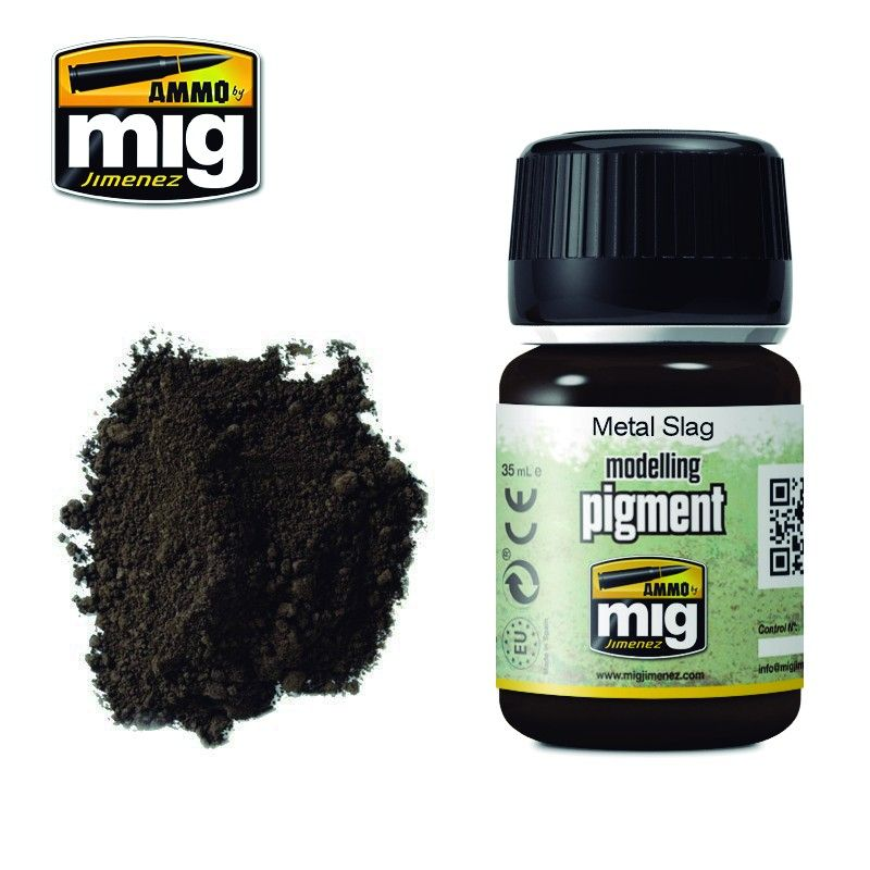 Ammo by Mig 35ml Metal Slag Modelling Pigment # MIG-3020