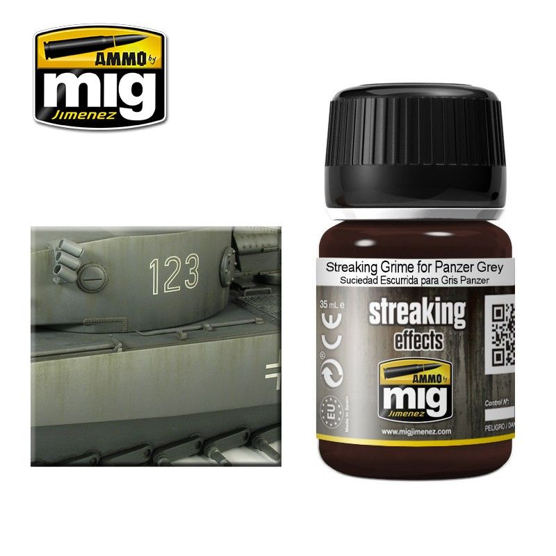Ammo by Mig 35ml Streaking Effect Grime for Panzer Grey # MIG-1202