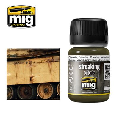 Ammo by Mig 35ml Streaking Grime for US Modern Vehicles # MIG-1207