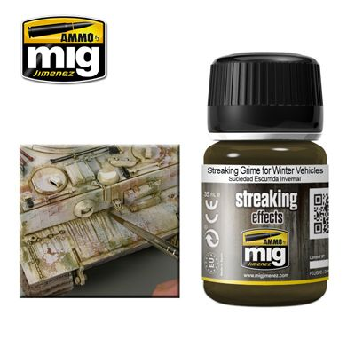 Ammo by Mig 35ml Streaking Grime for Winter Vehicles # MIG-1205
