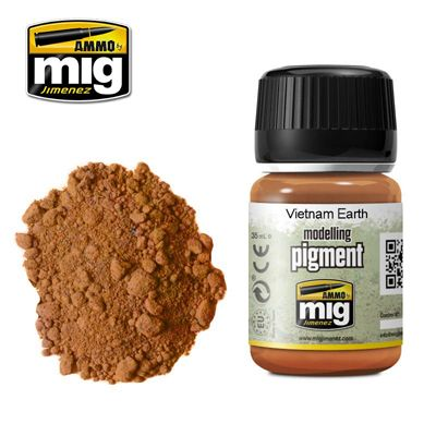 Ammo by Mig 35ml Vietnam Earth Modelling Pigment # MIG-3022