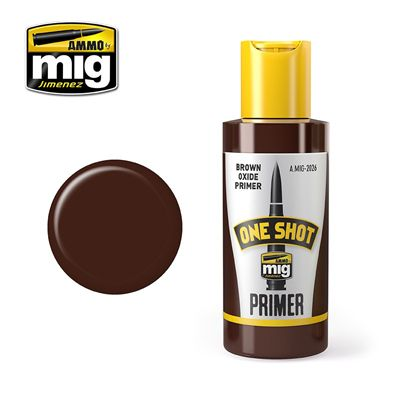 Ammo by Mig 60ml One Shot Brown Oxide Primer # MIG-2026
