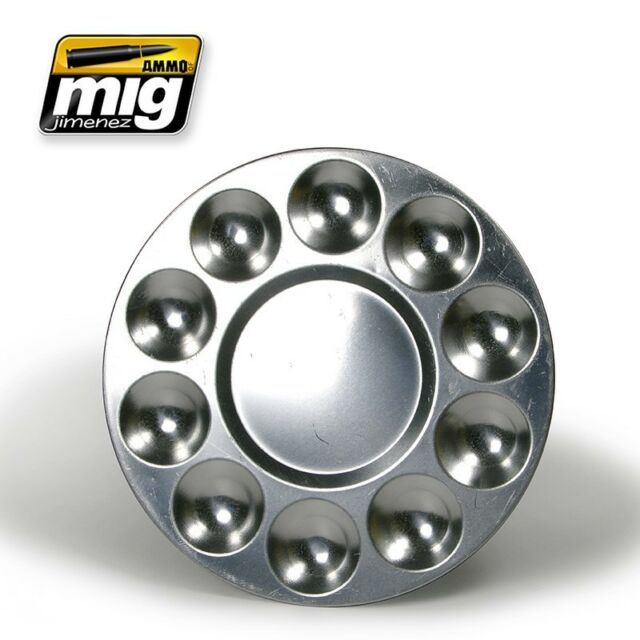 Ammo by Mig - Aluminium palette with 10 wells # 8009
