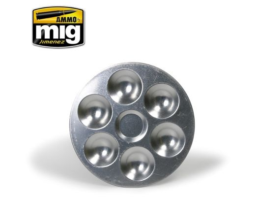 Ammo by Mig - Aluminium palette with 6 wells # 8008