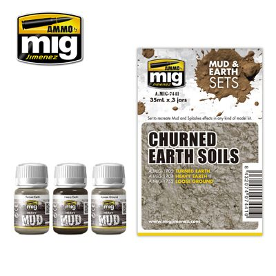 Ammo by Mig - Churned Earth Soils Mud & Earth Set # MIG-7441