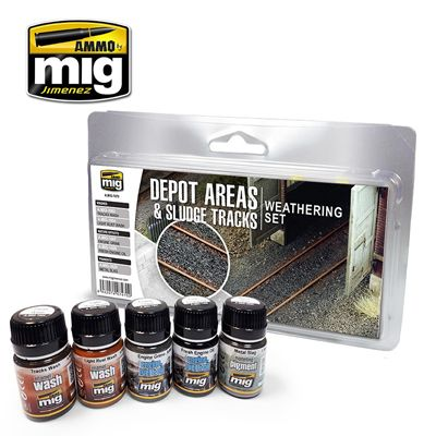 Ammo by Mig - Depot Areas & Sludge Tracks Weathering Set # MIG-7470