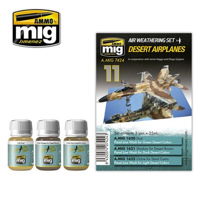 Ammo by Mig - Desert Airplanes Weathering Set # MIG-7424
