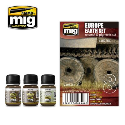 Ammo by Mig - Europe Earth Enamel Weathering Set # MIG-7408