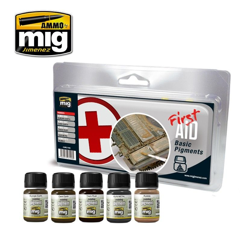 Ammo by Mig - First Aid Basic Pigments Set # MIG-7448