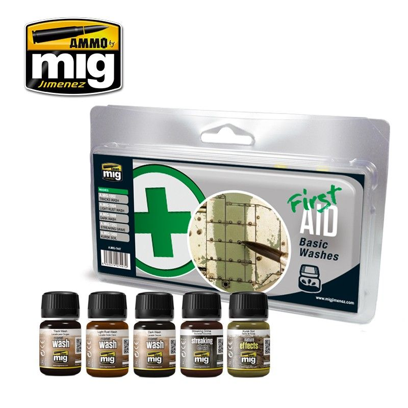 Ammo by Mig - First Aid Basic Washes Set # MIG-7447