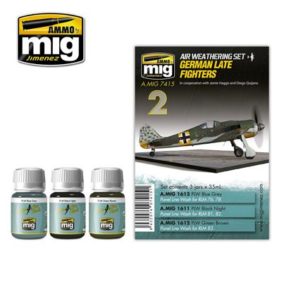 Ammo by Mig - German Late Fighters Weathering Set # MIG-7415