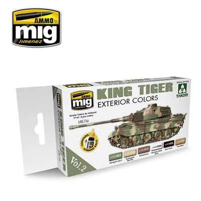 Ammo by Mig - King Tiger Exterior Colors Vol.2 Acrylic Paint Set # MIG-7166