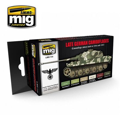 Ammo by Mig - Late German Camouflages Acrylic Paint Set # MIG-7101