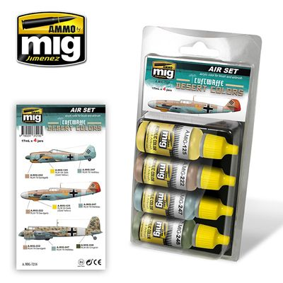 Ammo by Mig - Luftwaffe Desert Colors Acrylic Paint Set # MIG-7218