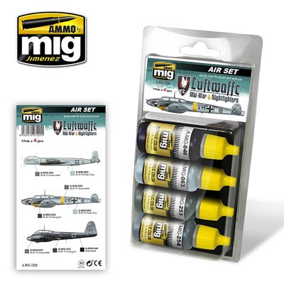 Ammo by Mig - Luftwaffe Mid-War & Nightfighters Acrylic Paint Set # MIG-7220