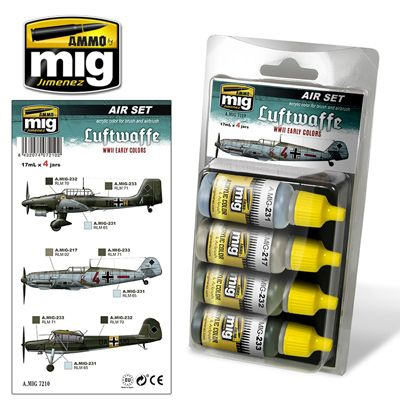 Ammo by Mig - Luftwaffe WWII Early Colors Acrylic Paint Set # MIG-7210