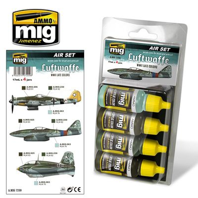 Ammo by Mig - Luftwaffe WWII Late Colors Acrylic Paint Set # MIG-7209