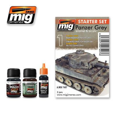 Ammo by Mig - Panzer Grey Starter Weathering Set # MIG-7407