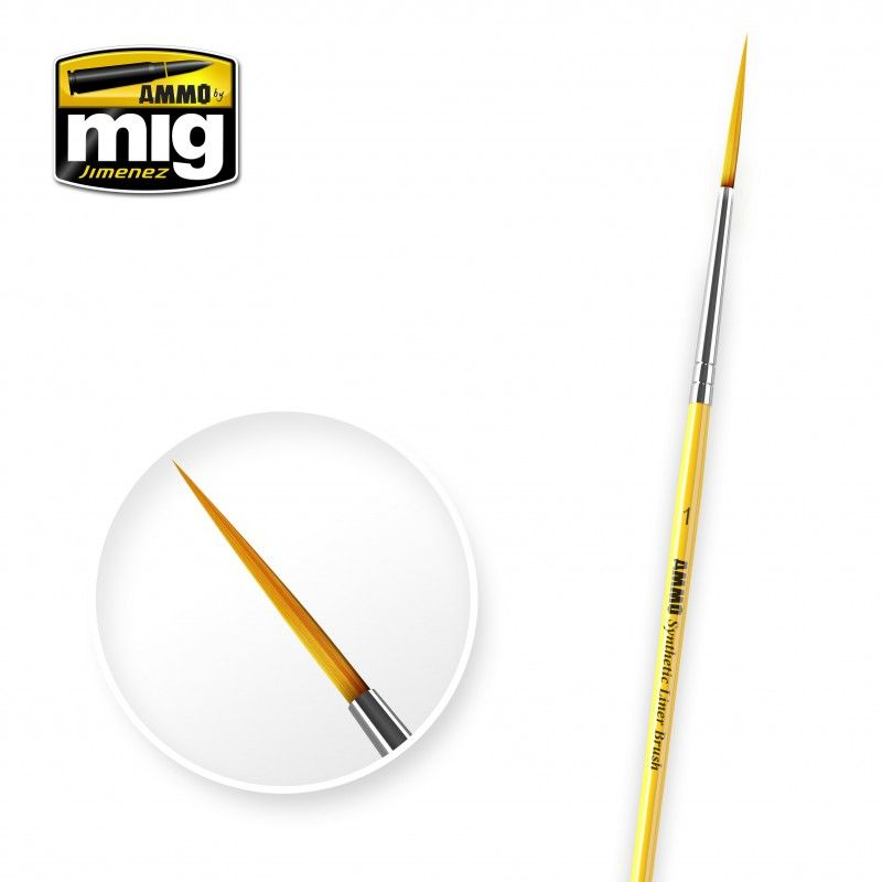 Ammo by Mig - Size 1 Synthetic Liner Brush # MIG-8591